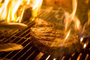 fire grill steak