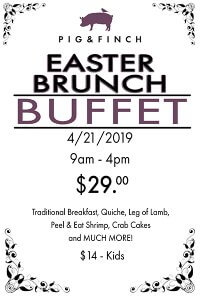 Pig & Finch Easter Brunch Buffet graphic